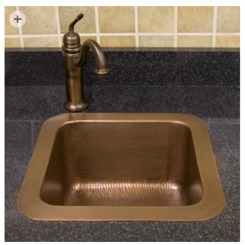 hammeredcoppersquaresink15in