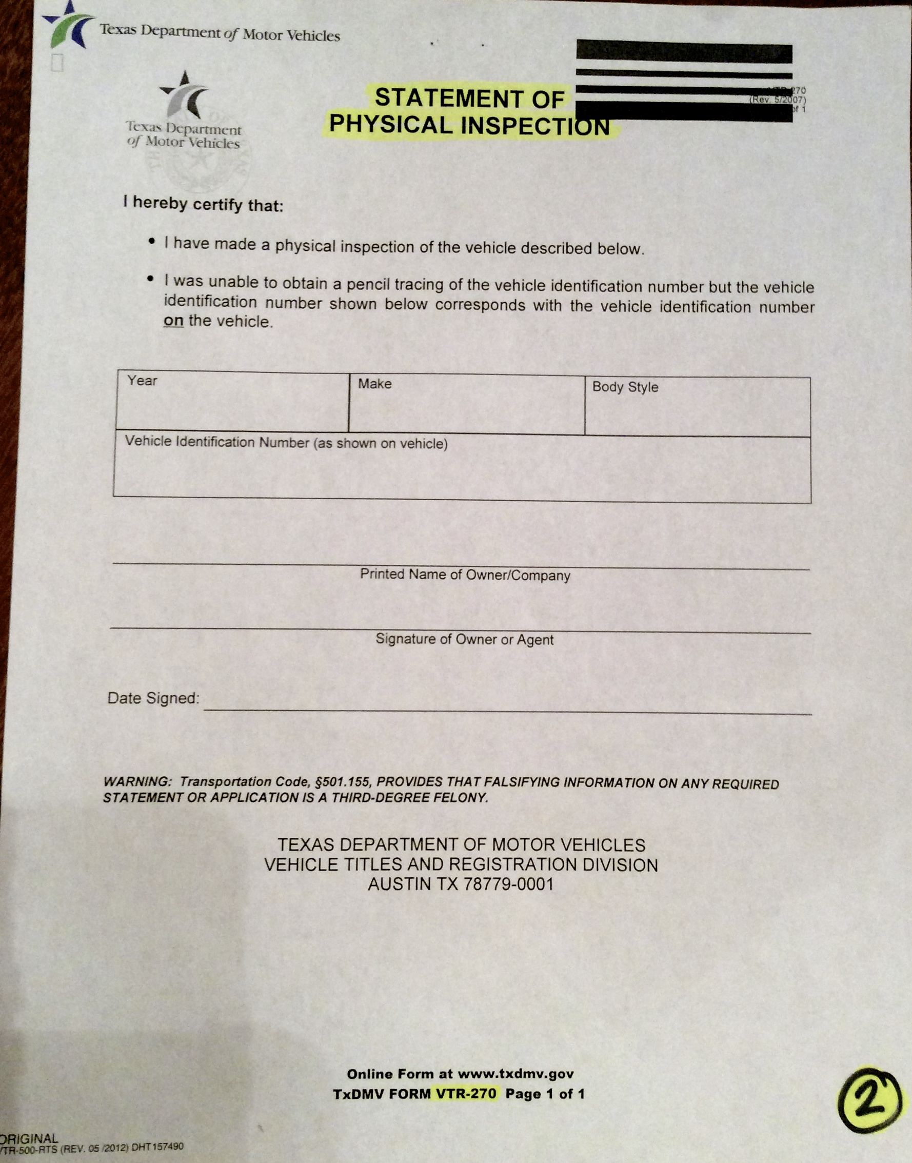 Texas department of motor vehicles title for Fl dept of motor vehicles license check